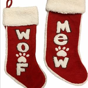 Darling Christmas Dog and Cat Stockings